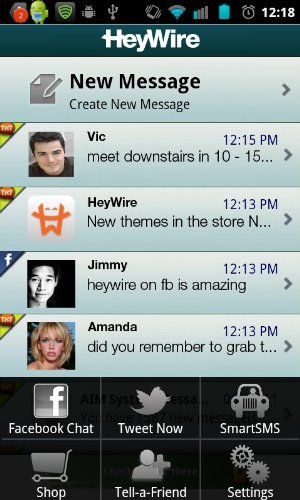 HeyWire on a device