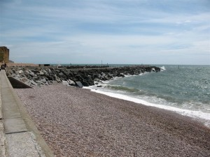 West Bay Dorset - The West Beach and new extension to the harbour