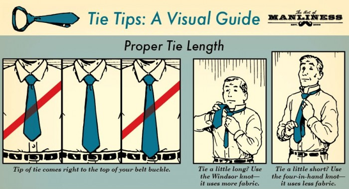 Tie Tips  A Visual Guide