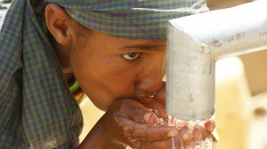 girl drinking clean water