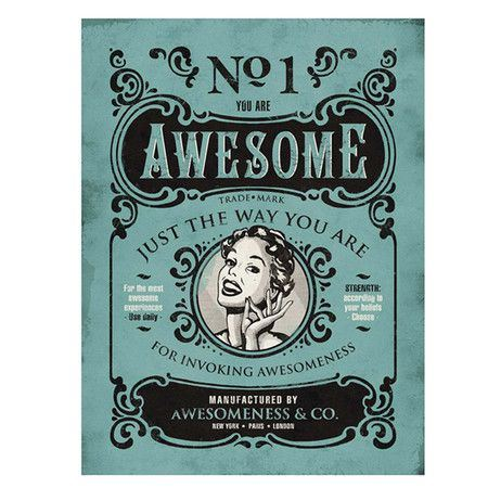 you are awesome poster