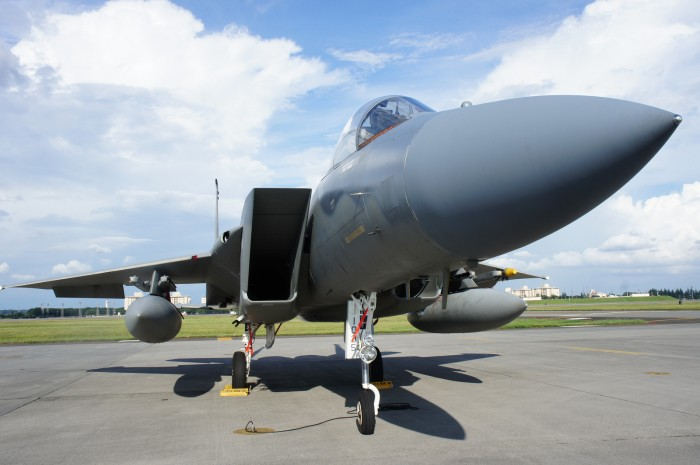 F-15 Strike Eagle from front