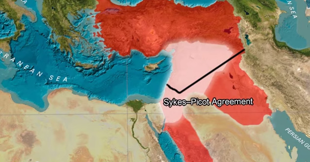 Sykes Picot Agreement Map